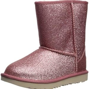 Pink glitter ugg style booties